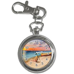 Alone On Sunset Beach Key Chain Watch