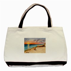 Alone On Sunset Beach Classic Tote Bag