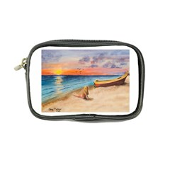 Alone On Sunset Beach Coin Purse