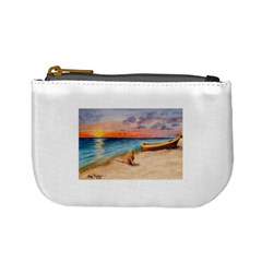 Alone On Sunset Beach Coin Change Purse
