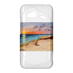 Alone On Sunset Beach HTC Droid Incredible 4G LTE Hardshell Case