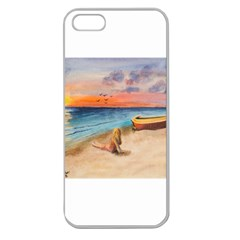 Alone On Sunset Beach Apple Seamless Iphone 5 Case (clear)
