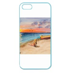 Alone On Sunset Beach Apple Seamless iPhone 5 Case (Color)