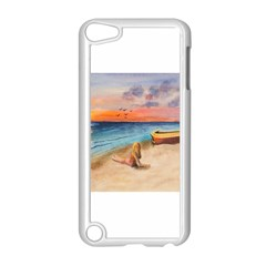 Alone On Sunset Beach Apple Ipod Touch 5 Case (white)