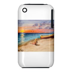Alone On Sunset Beach Apple iPhone 3G/3GS Hardshell Case (PC+Silicone)
