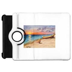 Alone On Sunset Beach Kindle Fire HD 7  (1st Gen) Flip 360 Case
