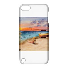 Alone On Sunset Beach Apple iPod Touch 5 Hardshell Case with Stand