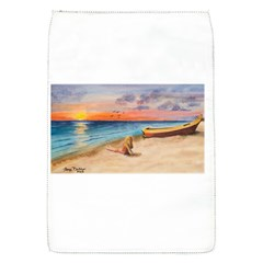 Alone On Sunset Beach Removable Flap Cover (Small)