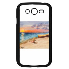 Alone On Sunset Beach Samsung Galaxy Grand DUOS I9082 Case (Black)