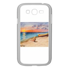 Alone On Sunset Beach Samsung Galaxy Grand DUOS I9082 Case (White)
