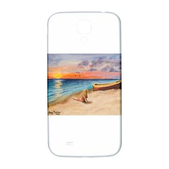 Alone On Sunset Beach Samsung Galaxy S4 I9500/i9505  Hardshell Back Case
