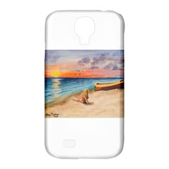 Alone On Sunset Beach Samsung Galaxy S4 Classic Hardshell Case (PC+Silicone)