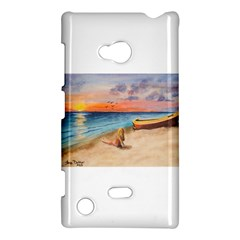 Alone On Sunset Beach Nokia Lumia 720 Hardshell Case
