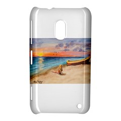 Alone On Sunset Beach Nokia Lumia 620 Hardshell Case