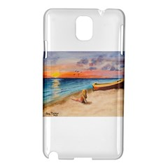 Alone On Sunset Beach Samsung Galaxy Note 3 N9005 Hardshell Case