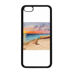 Alone On Sunset Beach Apple iPhone 5C Seamless Case (Black)