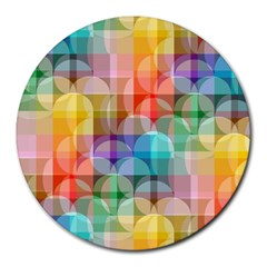 Circles 8  Mouse Pad (round)