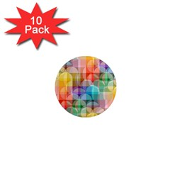 circles 1  Mini Button Magnet (10 pack)