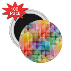 Circles 2 25  Button Magnet (100 Pack)