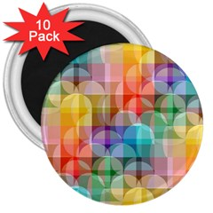 circles 3  Button Magnet (10 pack)