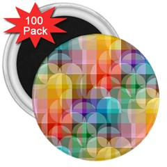 Circles 3  Button Magnet (100 Pack)