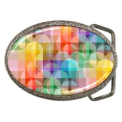 circles Belt Buckle (Oval)