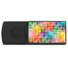 Circles 4gb Usb Flash Drive (rectangle)