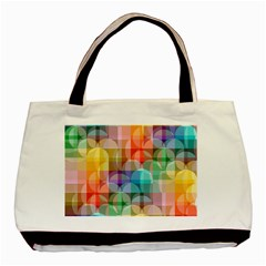 circles Twin-sided Black Tote Bag