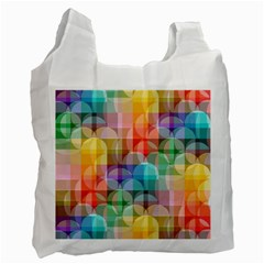 Circles White Reusable Bag (one Side)