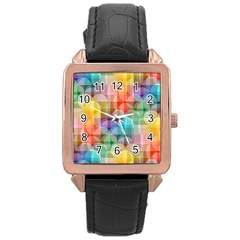 circles Rose Gold Leather Watch