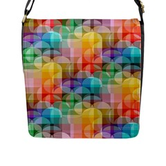circles Flap Closure Messenger Bag (Large)