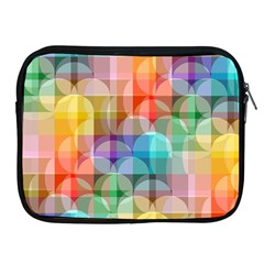 Circles Apple Ipad Zippered Sleeve