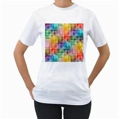 Circles Women s T Shirt (white)