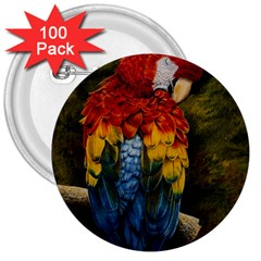 Preening 3  Button (100 pack)