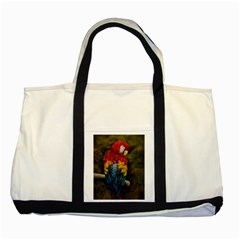 Preening Two Toned Tote Bag