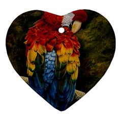 Preening Heart Ornament (two Sides)