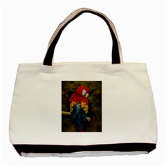 Preening Twin-sided Black Tote Bag