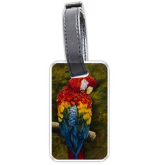 Preening Luggage Tag (One Side)
