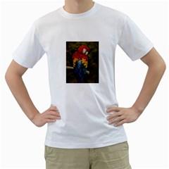 Preening Men s T Shirt (white)