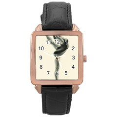 Attitude Rose Gold Leather Watch