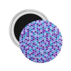 Purple Blue Cubes 2.25  Button Magnet