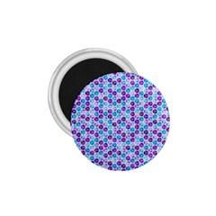 Purple Blue Cubes 1 75  Button Magnet