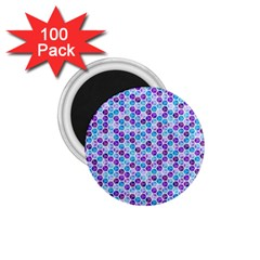 Purple Blue Cubes 1 75  Button Magnet (100 Pack)