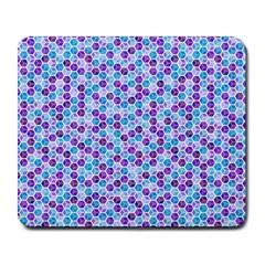 Purple Blue Cubes Large Mouse Pad (rectangle)