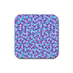 Purple Blue Cubes Drink Coasters 4 Pack (Square)