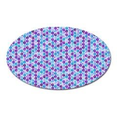 Purple Blue Cubes Magnet (Oval)