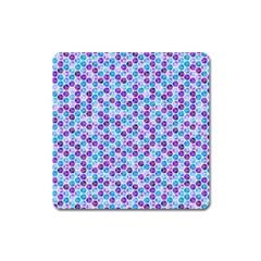 Purple Blue Cubes Magnet (Square)