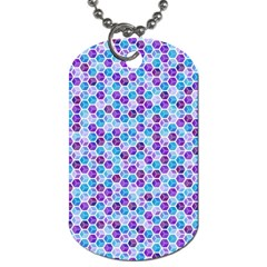 Purple Blue Cubes Dog Tag (One Sided)