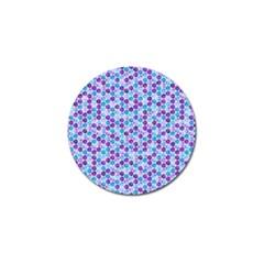 Purple Blue Cubes Golf Ball Marker 4 Pack