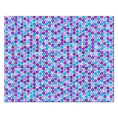 Purple Blue Cubes Jigsaw Puzzle (rectangle)